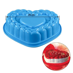 SILIKOLOVE 3D Baking Dishes Silicone Mould Baking Pan Cake molds Single Flower Round Shaped Bakeware Kitchen Accessories