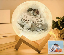 Load image into Gallery viewer, Lekker Enchanting LED 3D Moon + Customized Personalized Text and Imagery