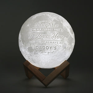 Lekker Enchanting LED 3D Moon + Customized Personalized Text and Imagery