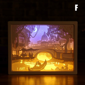 LED 3D Paper Carving Lamp