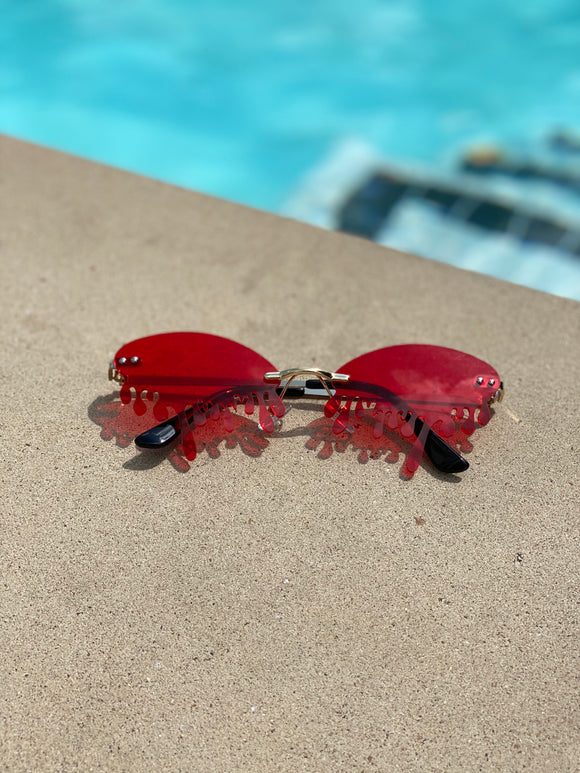 Red Drip Sunnies