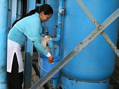 Amala Carpets provides clean filtered waters to its communities