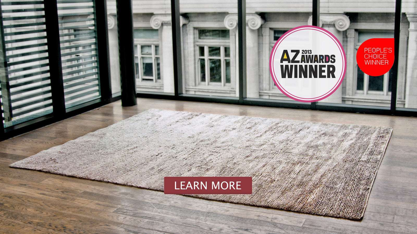 Aria is an award winning rug design by amala carpets handmade with pure organic zee silk