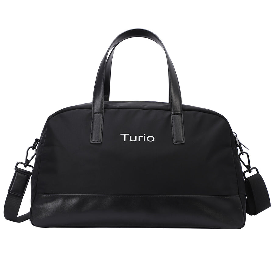 Black Weekender Bag with Back Sleeve Large