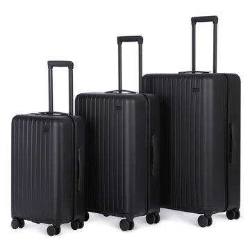 3 Piece Luggage Set Midnight Black