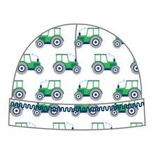 Load image into Gallery viewer, Magnolia Baby Tractor Navy Printed Hat