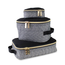 Load image into Gallery viewer, Itzy Ritzy Coffee & Cream Travel Diaper Bag Packing Cubes