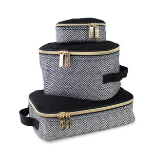 Itzy Ritzy Coffee & Cream Travel Diaper Bag Packing Cubes