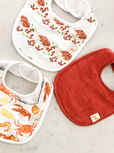Velvet Fawn Monday Special/Eat More Seafood Bib Set
