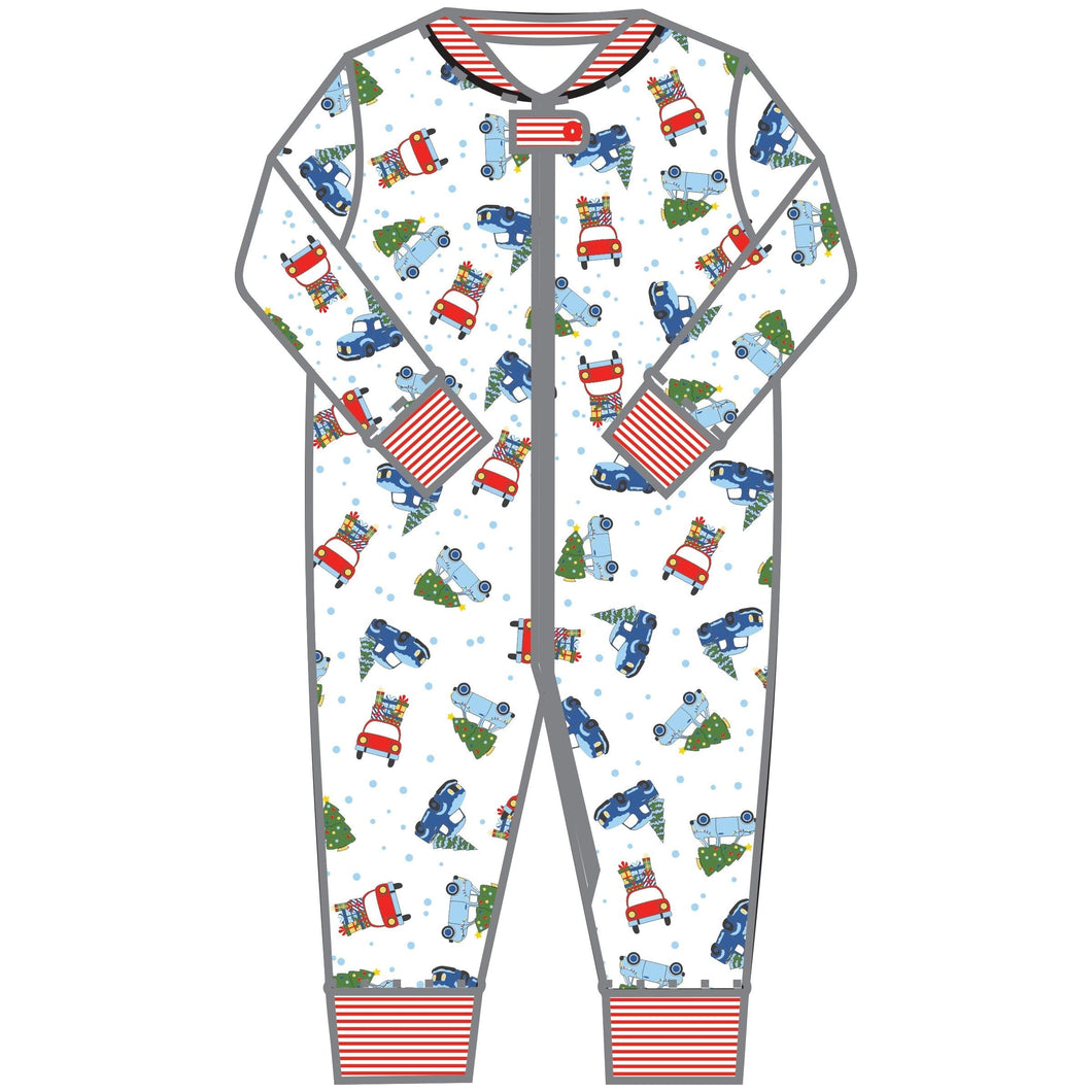 Magnolia Baby Christmas Cheer Printed Zipped Pajama