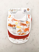 Load image into Gallery viewer, Velvet Fawn Monday Special/Eat More Seafood Bib Set