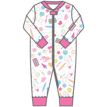 Load image into Gallery viewer, Magnolia Baby Baking Party! Printed Zipped Pajama