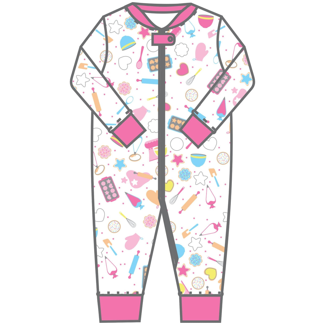 Magnolia Baby Baking Party! Printed Zipped Pajama