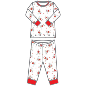 Magnolia Baby Peppermint Fairies Printed Long Pajama