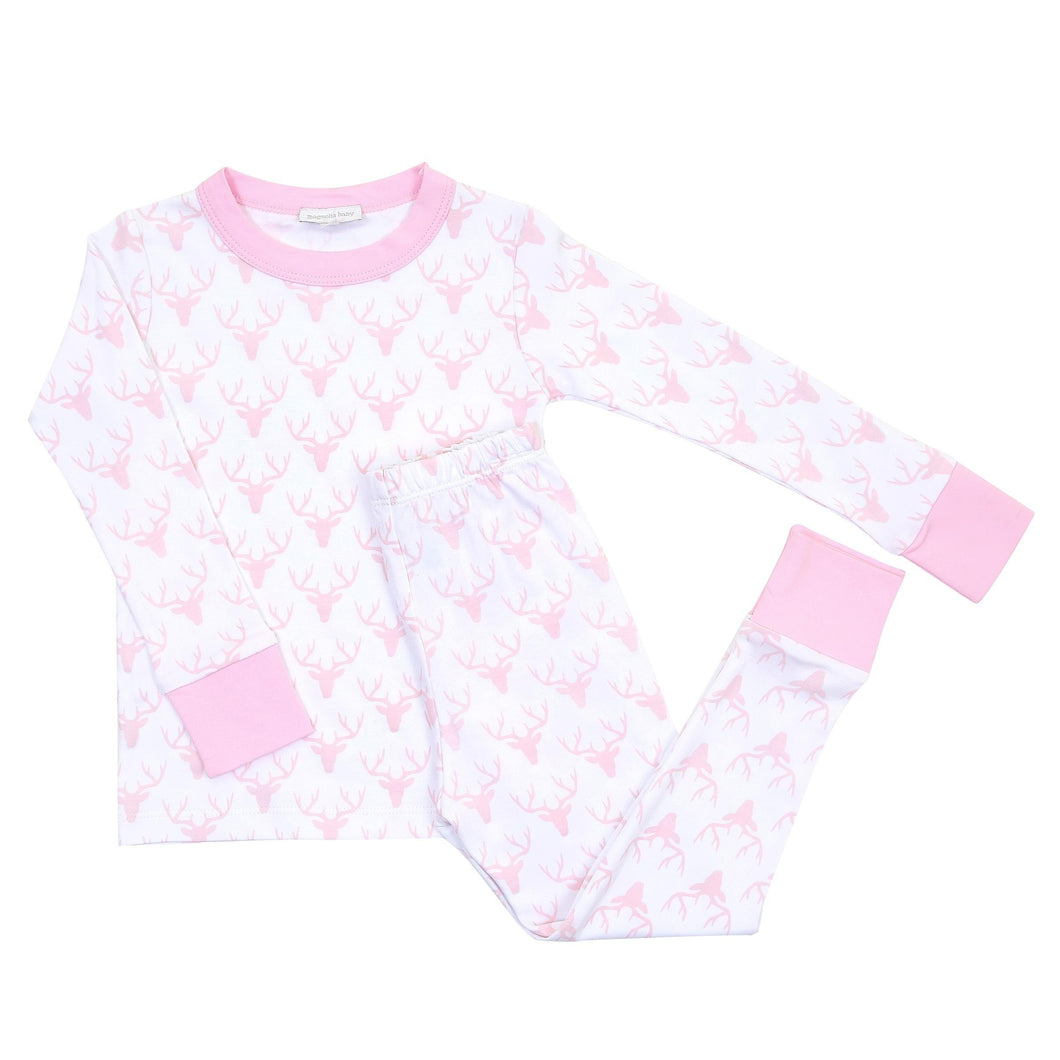 Magnolia Baby: Sweet Little Buck Long Pajamas