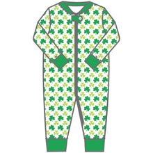 Load image into Gallery viewer, Magnolia Baby Clover Printed Zipped Pajama