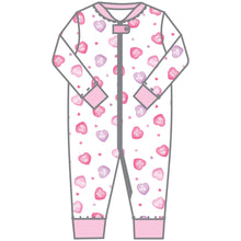 Load image into Gallery viewer, Magnolia Baby Lil Sweetheart Printed Zipped Pajama
