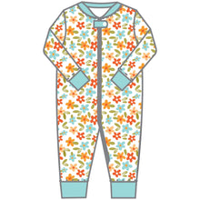Load image into Gallery viewer, Magnolia Baby Fall Flowers Zipped Pajama