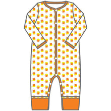 Load image into Gallery viewer, Magnolia Baby Candy Corn Playsuit