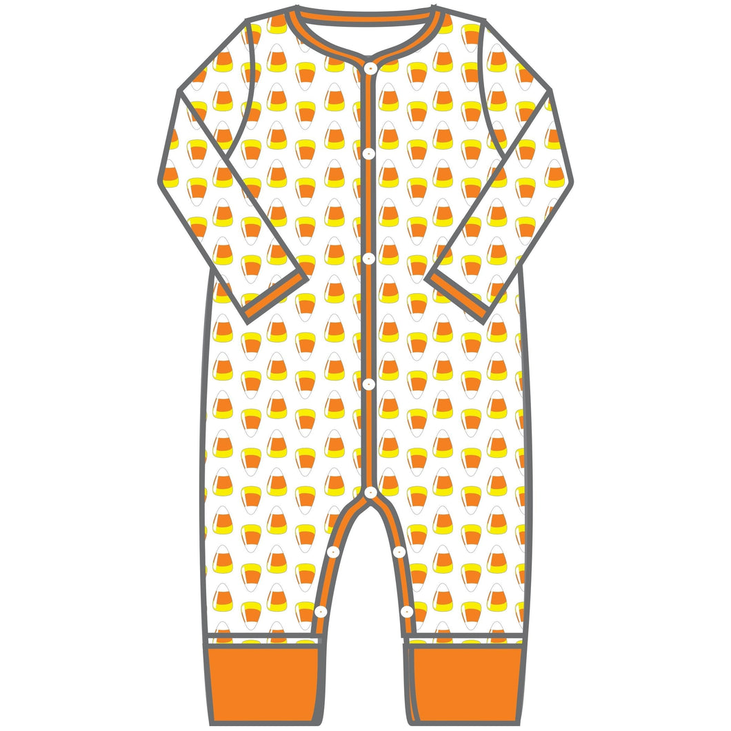Magnolia Baby Candy Corn Playsuit