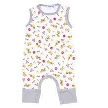Load image into Gallery viewer, Magnolia Baby UNDER CONSTRUCTION Printed Sleeveless Playsuit