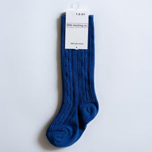 Load image into Gallery viewer, Classic Blue Knee High Socks
