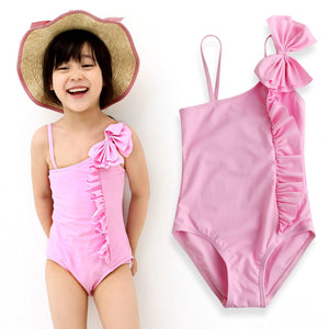 Girls One Piece Swimsuit with Ruffles