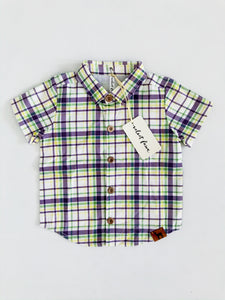 Velvet Fawn-Carnival Plaid Button Down Collared Shirt