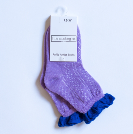 Iris Two-Tone Anklet Socks