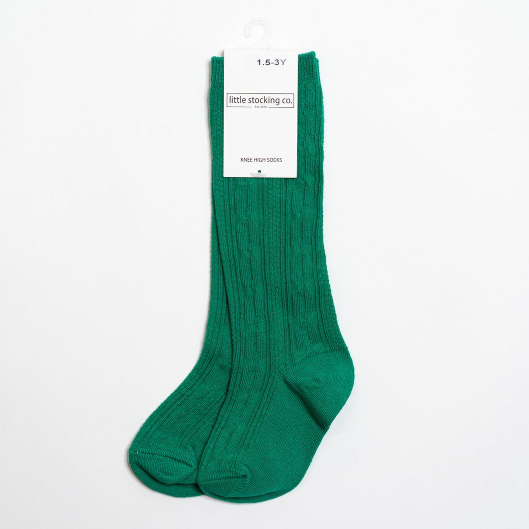 Emerald Knee High Socks