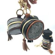 Itzy Ritzy Coffee & Cream Diaper Bag Charm Pod Keychain