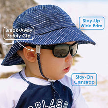 Load image into Gallery viewer, Cotton Bucket Hat-Blue Stripes