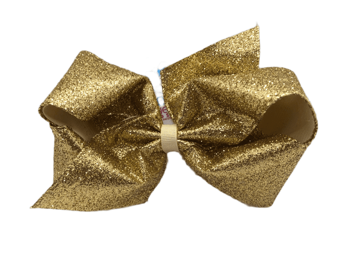 King Party Glitter Bow-Gold
