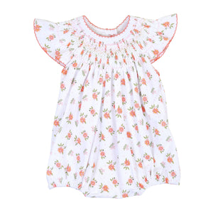 Magnolia Baby Autumn's Classics Orange Bishop Printed Flutters Bubble