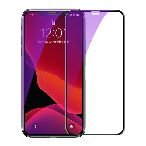 2x Screen Protectors with Crack-resistant Edges and Anti-blue light for iPhone 11 / XR