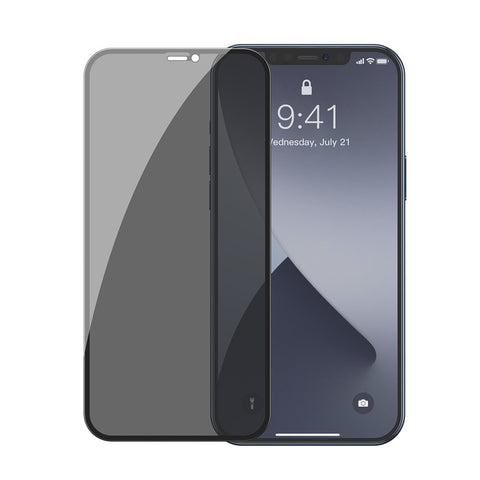 2x Anti Spy Screen Protectors with a Frame for iPhone 12 mini