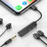 3-in-1 iPhone Lightning to Dual iPhone Lightning and 3.5mm Female Adapter