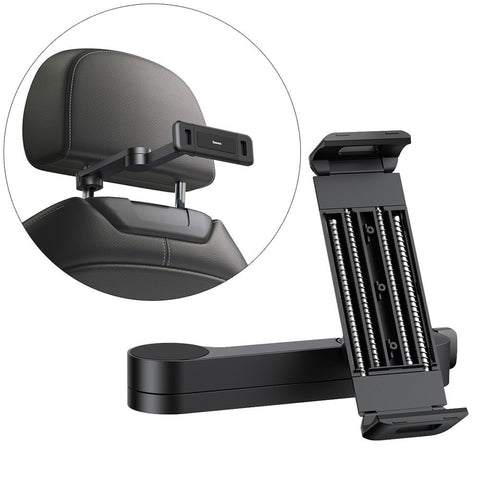 Backseat Car Mount Adjustable Headrest Bracket for Tablets and Smartphones
