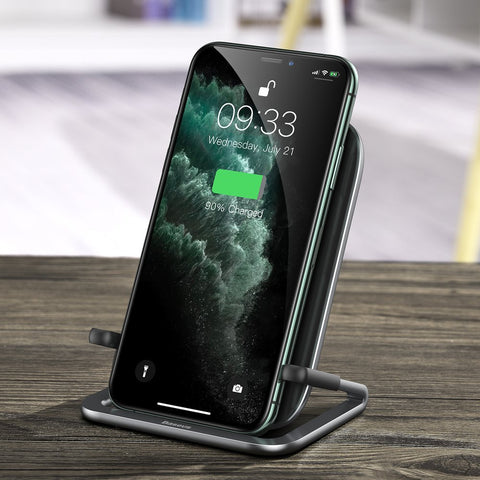 Cobble Qi Wireless Induction Charger 15W + Horizontal Holder Stand