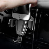 "Gravity Car Mount Phone Bracket Air Vent Holder for 4-6"" Devices"