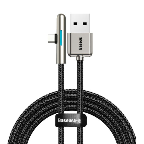 Mobile Game Elbow Cable USB Type C with Nylon Braid