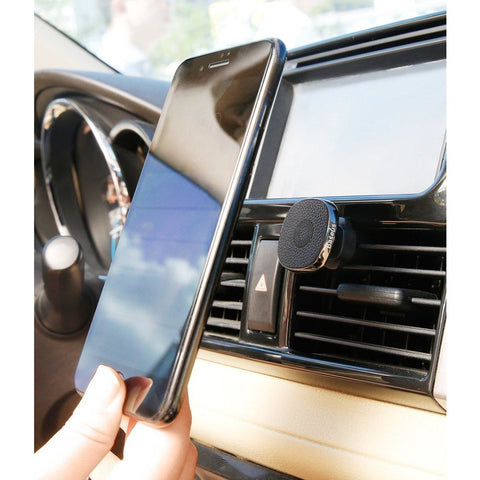 Privity Pro Vehicle Mount Magnetic Holder with Genuine Leather for Air Vent