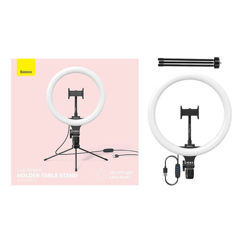 Ring Light LED Lamp 10'' for Smartphone with Mini Desk Tripod
