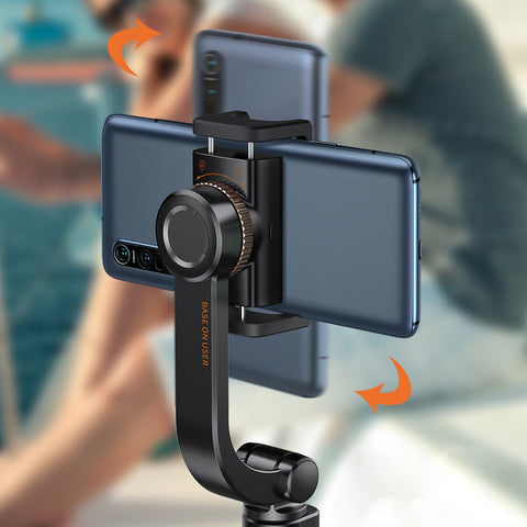 Uniaxial Gimbal Selfie Stick with Tripod Telescopic Stand and Bluetooth Remote Control
