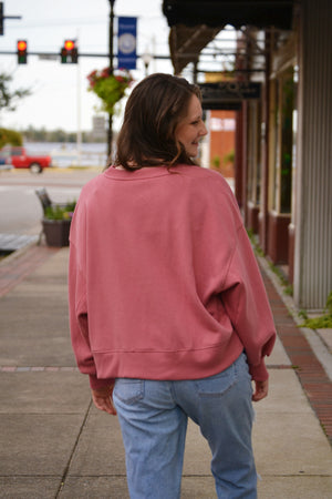 Load image into Gallery viewer, Cozy Sweatshirt w/ Balloon Sleeves