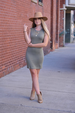 Shelia BodyCon - Light Olive, Bijoux Vibes boutique Elizabeth City