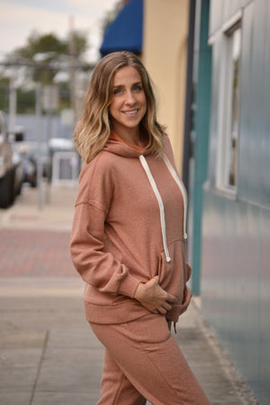 Load image into Gallery viewer, Hoodie Jogger Set-Almond