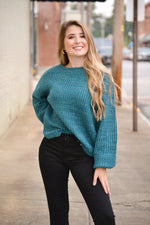 Tori Sweater-Teal