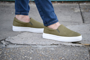 Olive Hike Slip Ons shoes, Bijoux Vibes boutique Elizabeth City