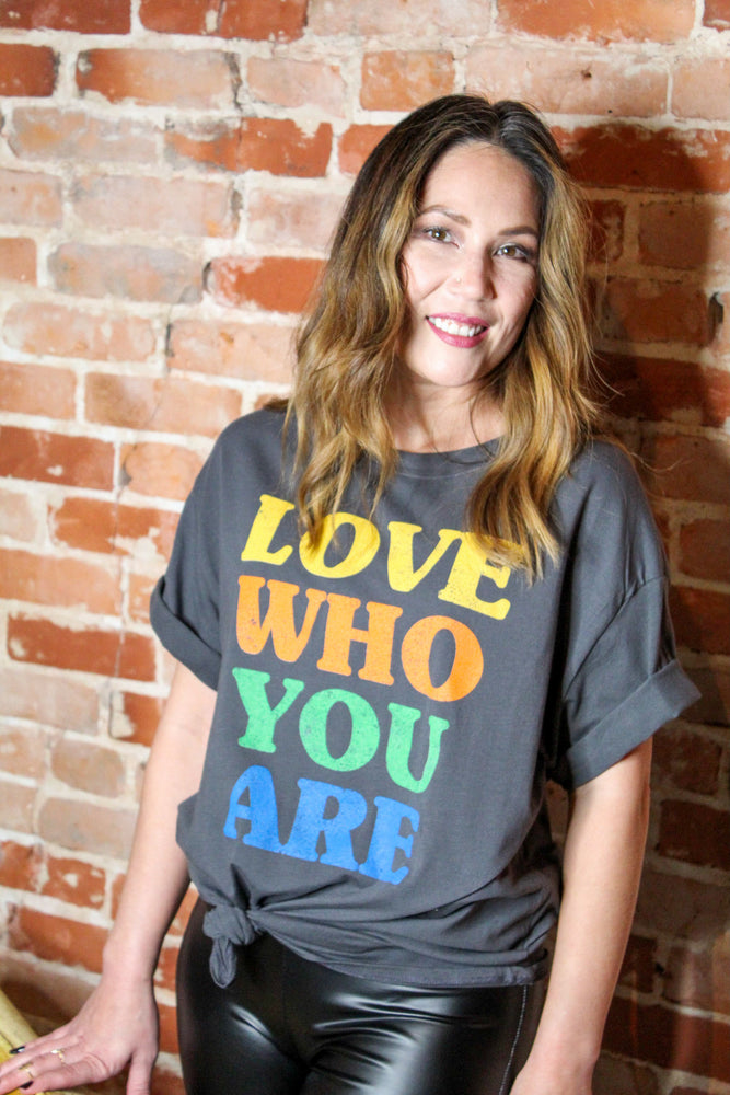Love Who You Are Graphic Tee